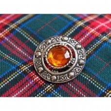 Apvali vintažinė škotiška segė