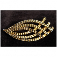 Auksinis stilizuotas lapas