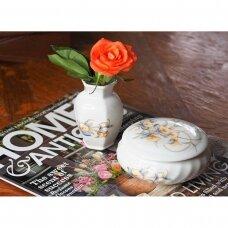 Aynsley Just Orchids porceliano dėžutės ir vazelės komplektas