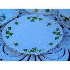 Colclough kvadratinė lėkštė, dekoruota gebenėmis