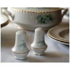 Druskinė ir pipirinė, dekoruota pavasariniais žiedais