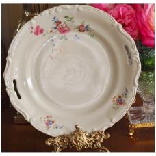 Kreminė Tulowice serviravimo lėkštė barokiniu krašteliu