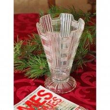 Mid century stiliaus presuoto stiklo vaza