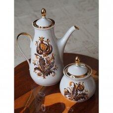 Rygos porceliano arbatinukas ir cukrinė