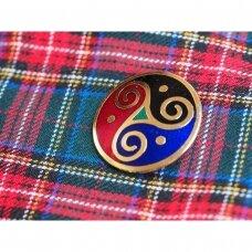 Vintažinė škotiška trijų spalvų segė