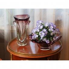 Violetinis vazos ir vaisinės komplektas